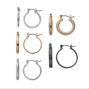 Croft & Barrow - Hoop Earring Set